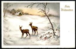 B3065 - Glückwunschkarte - Weihnachten - Bambi Winterlandschaft - HACO 593 - Sonstige