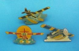 3 PIN'S //   ** CAMEL / 3 HYDRAVIONS ** . (Camel) - Badges