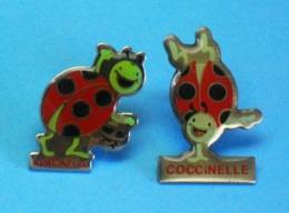 2 PIN'S //   ** LES 2 COCCINELLES ** - Badges