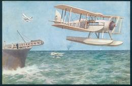 IMPERIAL AIRWAYS DH Seaplane Catepult Launch UNUSED Salmon Edition - 1919-1938: Between Wars