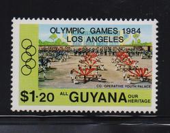 Guyana 1984, Overprint, Sports, Olympic Games, Minr 1249, MNH - Guyana (1966-...)