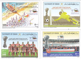 Oman New Issue 2018,Winners Of Gulf Foot-Ball Cup 4 V. Complete Set MNH-Nice Topical- SKRILL PAYMENT ONLY - Oman