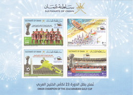 Oman New Issue 2018,Winners Of Gulf Foot-Ball Cup  Souvenir Sheet- Limited --Nice Topical- SKRILL PAYMENT ONLY - Oman