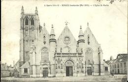 Bergues Bombardee L Eglise St Martin - Militaria