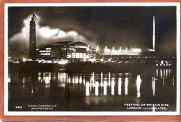 Angleterre  CPSM Petit Format  Festival Of Britain Site LONDON Illuminated    1951     Bon état - Andere
