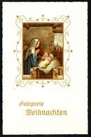 B3086 - Glückwunschkarte - Weihnachten - Maria Jesus - Golddruck - Gel 1960 - Otros