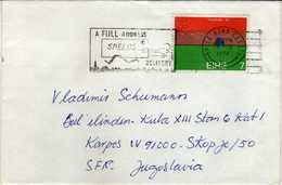 Ireland Letter 1974 Via Yugoslavia Macedonia - Nice Stamps - 1973 World Ploughing Championship.tractor - 1949-... Republic Of Ireland