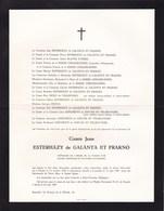 VIENNE SAINT-FONTAINE Comte Jean ESTERHAZY De GALANTA ET FRAKNO Ancien Sénateur Hongrie 1900-1967 Toison D'Or - Avvisi Di Necrologio