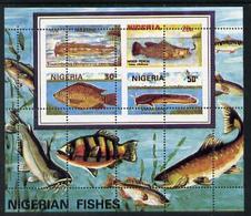 1554 Nigeria 1991 (Marine Life) Fishes M/sheet With Spectacular Misplaced Perfs Error - Nigeria (1961-...)