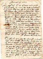 Mémoire De Villemalard Creuse, Famille De La Celle 1427 à Déchiffrer - Documenti Storici