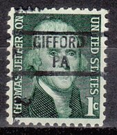 USA Precancel Vorausentwertung Preo, Locals Pennsylvania, Gifford 841 - Vereinigte Staaten