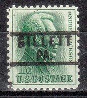 USA Precancel Vorausentwertung Preo, Locals Pennsylvania, Gillett 818 - Vereinigte Staaten