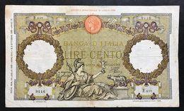 100 Lire Roma Guerriera Fascio Roma 19 07 1939 Q.bb  LOTTO 972 - [ 1] …-1946 : Kingdom