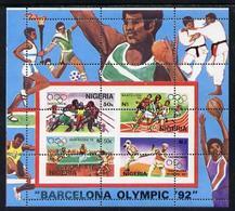 1941 Nigeria 1992 (Sport) Barcelona Olympic Games (1st Issue) M/sheet With Superb Misplaced Perfs Error - Nigeria (1961-...)