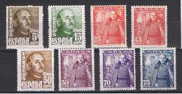 SPAGNA:  1948/54  DEFINITIVA  -  5 VAL. N./ T.L. -  YV/TELL. 764A//773 - 1931-Oggi: 2. Rep. - ... Juan Carlos I