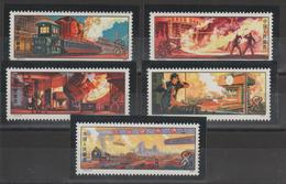Chine China 1978 Industrie Sidérurgique 2162-2166 5 Val. Neufs ** MNH - Neufs