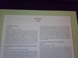 ITALIA 2003 FOGLI MARINI PER QUARTINE - Collezioni (in Album)