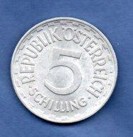 Autriche   - 5 Schilling 1952  -- Km # 2879--    état  TTB - Autriche
