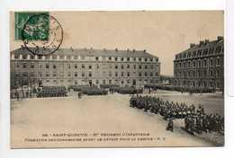 - CPA SAINT-QUENTIN (02) - 87e Régiment D'Infanterie 1909 - Formation Des Compagnies Avant Le Départ Pour La Marche - - Saint Quentin