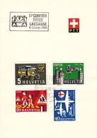 Trois Carnets Comptoir Suisse Lausanne 1956, 1961, 1966, Avec Séries - Postmark Collection
