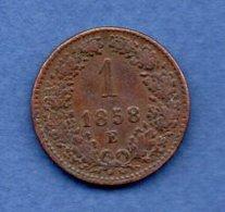 Autriche   - 1 Kreuzer 1858 E   -- Km # 2186--    état  TB+ - Autriche