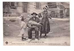 03 Le Bourbonnais Les Préparatifs De La Fete Vielleur Accorde Instrument Folklore Costume Joueur Vielle Musique Musicien - Non Classés
