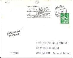 13 - BOUCHES DU RHONE - FONTVIEILLE -  SECAP   - 1962 - Postmark Collection (Covers)