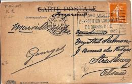 13 - BOUCHES DU RHONE - MARSEILLE -  FLIER   - 1922        MAR409 - Marcophilie (Lettres)