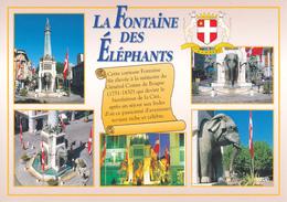 73 CHAMBERY / LA FONTAINE DES ELEPHANTS / MULTIVUES / PETIT HISTORIQUE / BLASON - Chambery
