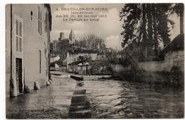 Chatillon Sur Seine : Inondations De Janvier 1910, Le Pertuis (Perthuis) Au Loup (Editeur H. Massenet N°4) - Chatillon Sur Seine