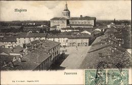 Cp Magenta Lombardia, Panorama, Vogelschau Auf Den Ort, Platz - Italy