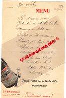 23- BOURGANEUF- RARE MENU 1936- GRAND HOTEL DE LA BOULE D' OR- SAINT GALMIER BADOIT - EAU - Menus