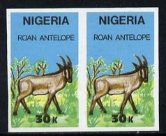 1997 Nigeria 1990 (Animals) Wildlife - Roan Antelope 30k Unmounted Mint Imperforate Pair* - Nigeria (1961-...)