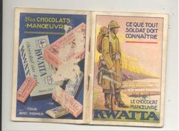 Petit Manuel Avec Agenda Pour Le Militaire - Chocolat KWATTA - Grade, Chant, équipement, Casernes,.. Armée Belge (nod) - Chocolate