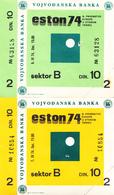 TABLE TENNIS-EUROPIAN CHAMPIONSHIP 1974,TICKETS - Tennis De Table