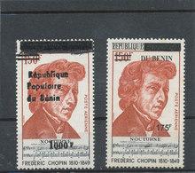 Bénin 1988 - 2007  (Frédéric Chopin  - 2 Valeurs Surchargées )  ** Luxe   - TRES RARES - Musica