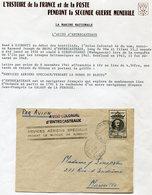 """COTE FRANCAISE DES SOMALIS LETTRE PAR AVION AVEC CACHET """"AVISO COLONIAL D'ENTRECASTEAUX"""" + CACHET SERVICES.. SPECIAUX... - Lettres & Documents"""