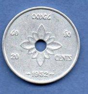 Laos  - 20 Cents 1952     -- Km # 5  --    état  SUP - Laos