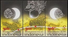 IHI - NDONESIA MNH 3v 23.02.2016 Total Solar Eclipse - Indonesia