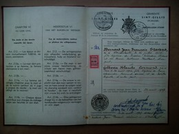 Trouwboekje  B. J. François STEVENS -- G. BLANCHE CORMOND   Gemeente SINT_GILLIS    1947 - Annunci Di Nozze