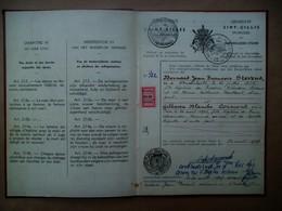 Trouwboekje  B. J. François STEVENS -- G. BLANCHE CORMOND   Gemeente SINT_GILLIS    1947 - Mariage