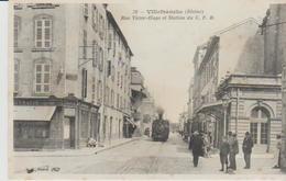 """69 .( Villefranche Sur Saone  """" Station Du .C F B  """"  ) - Villefranche-sur-Saone"""