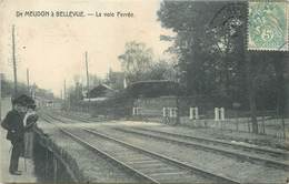 DE MEUDON à BELLEVUE - La Voie Ferrée, Passage à Niveau. - Meudon