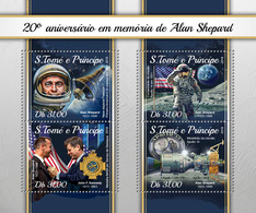 S.Tome&Principe. 2018 20th Memorial Anniversary Of Alan Shepard. (118a) - Space