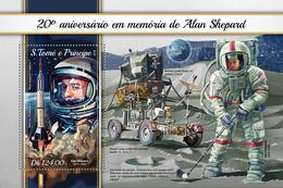 S.Tome&Principe. 2018 20th Memorial Anniversary Of Alan Shepard. (118b) - Space