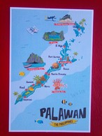 Map Of Palawan - Philippines