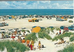 Summer On The Beach. The North Sea - Old Cars.  Denmark  # 07426 - Postcards