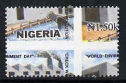 55478 Nigeria 1993 (Irrigation) World Environment Day 1n50 Water Polution With Vert & Horiz Perfs Misplaced - Nigeria (1961-...)
