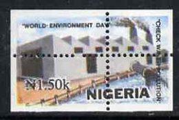 55482 Nigeria 1993 (Irrigation) World Environment Day 1n50 Water Polution With Vert & Horiz Perfs Misplaced - Nigeria (1961-...)