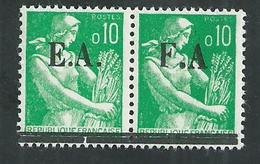 Algérie . Timbres** Surchargés EA état Algerien. Moissonneuse Avec Variété FA - Algérie (1924-1962)